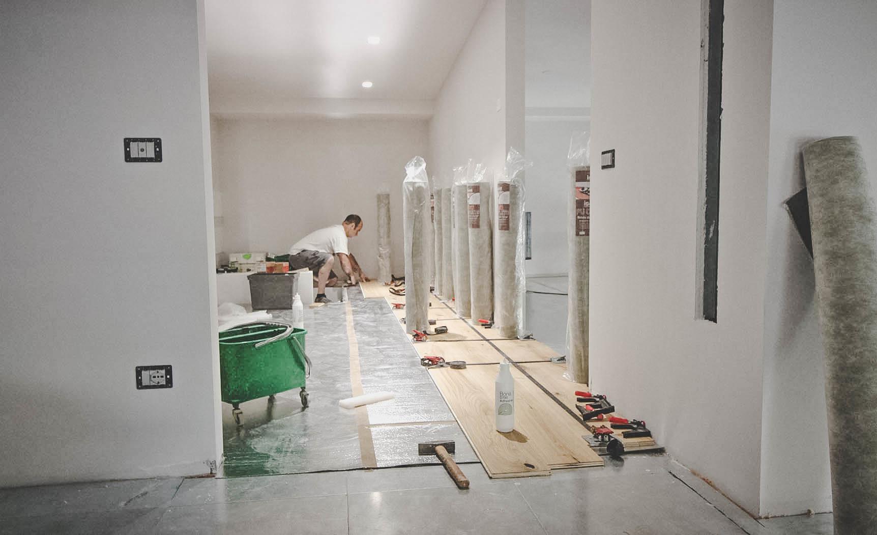 Parquet in ufficio - pavimento in legno