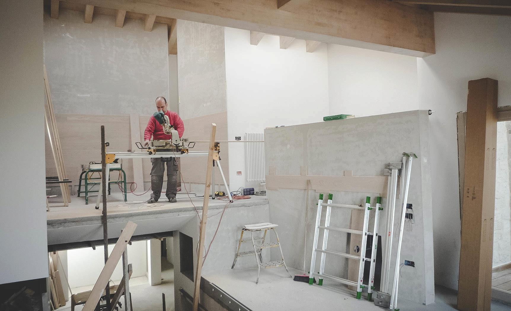 lavorazione legno parquet