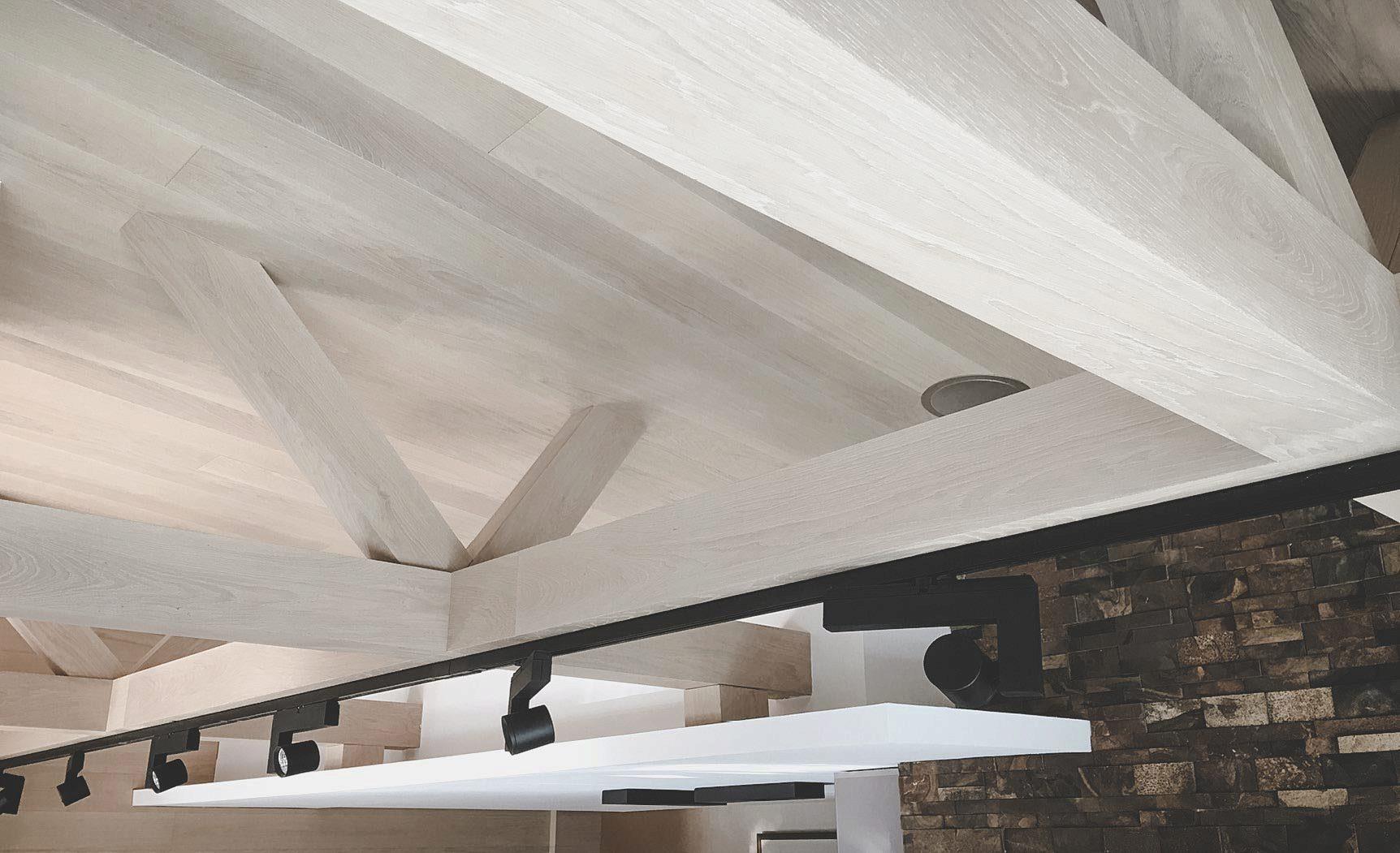 soffitto in legno parquet