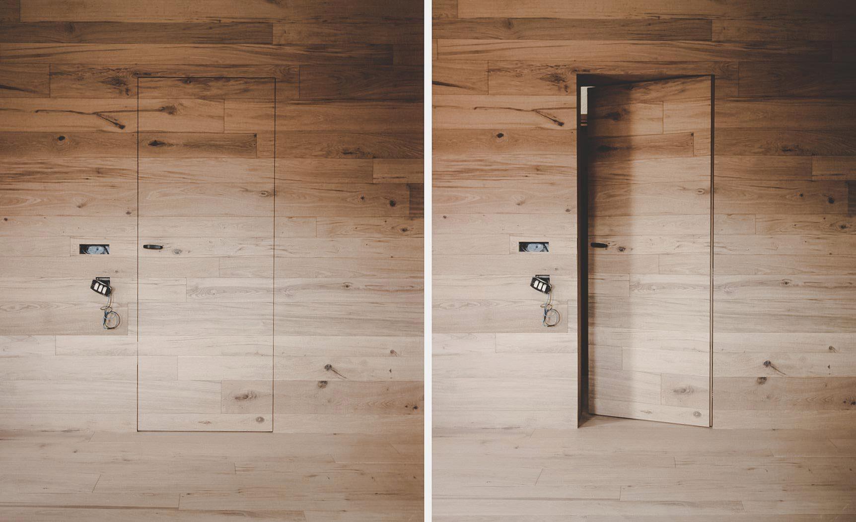 porta in legno parquet